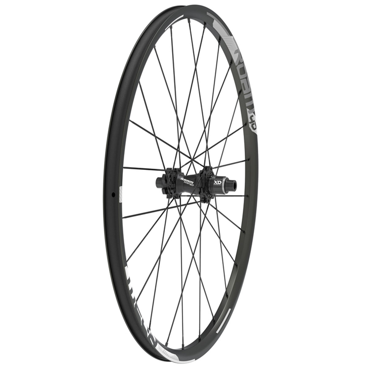 SRAM Roam 40 27.5 inch Rear UST Black/Silver Disc Bicycle Wheel - 00.1918.184.004