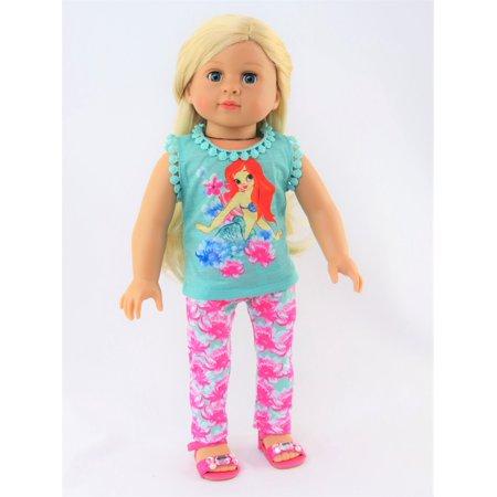 Little Mermaid Pant Set / Pajamas | Fits 18