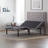 "LUCID Advanced Power Adjustable Bed Base ? Wireless Remote, Dual Massage, Dual USB Port, Multi Position, Memory Position, Underbed Lighting, Six 12"" Legs ? Twin XL"