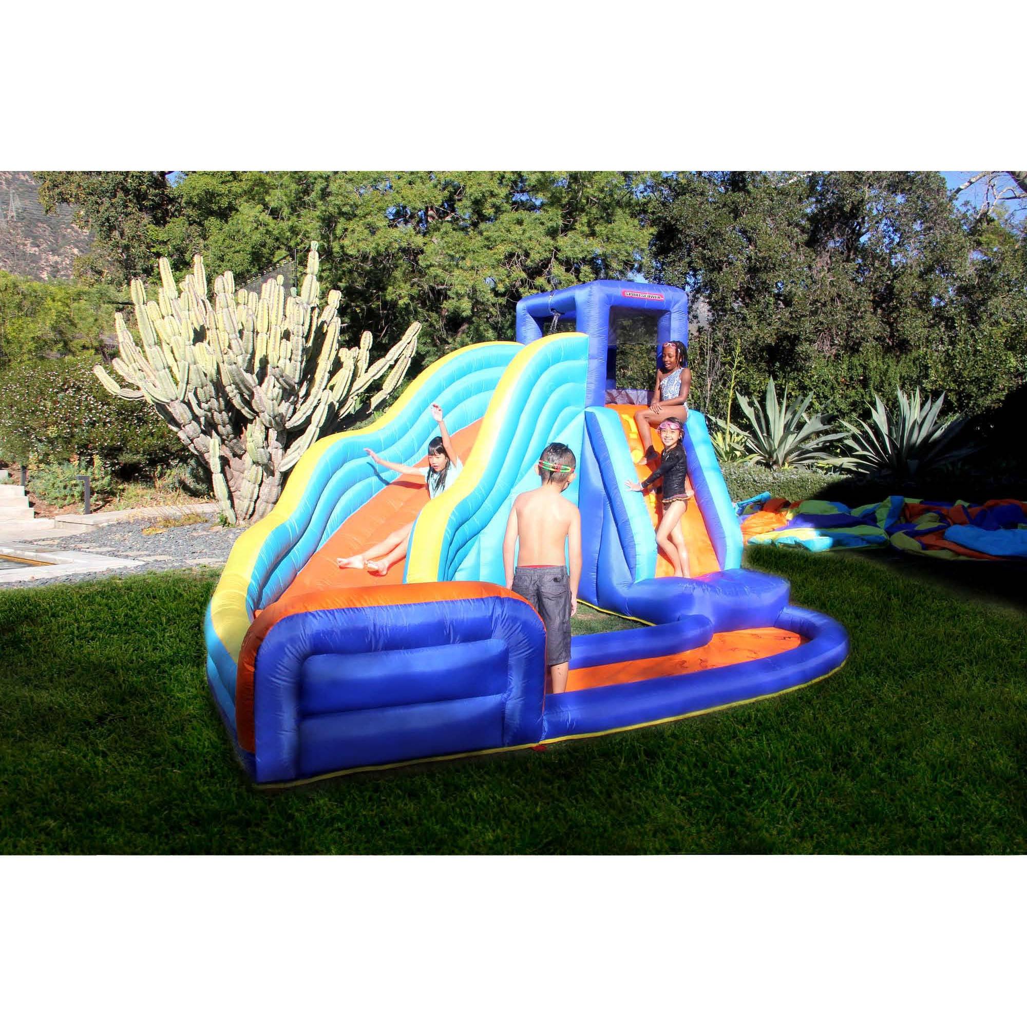 Water Slide Backyard Inflatable Waterslide Park Biggest