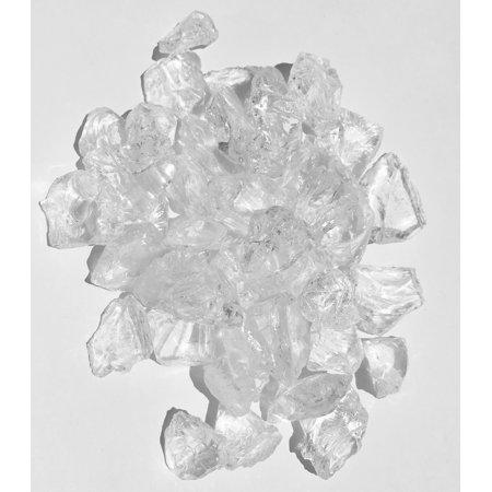 Crystal Clear Fire Pit Glass Rocks, 1/2