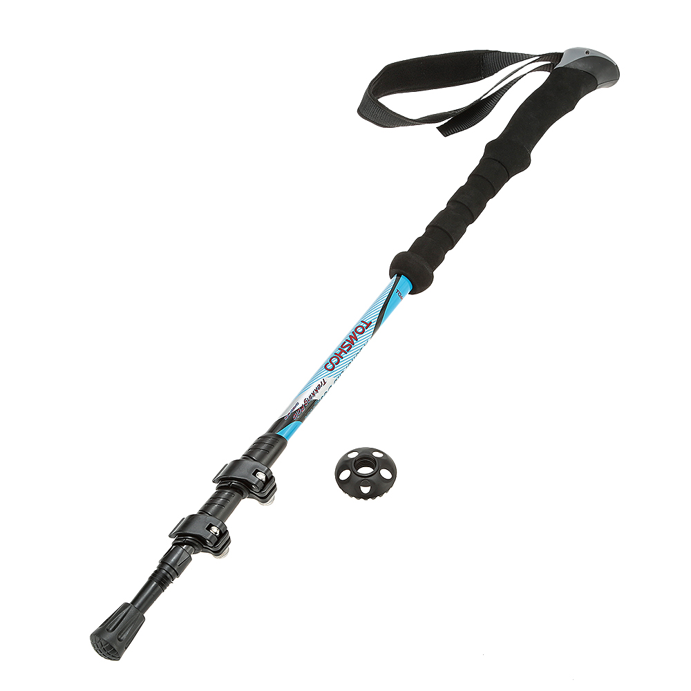 TOMSHOO Carbon Fiber Lightweight Trekking Pole Adjustable Telescopic Hiking Walking Stick 3 Section by