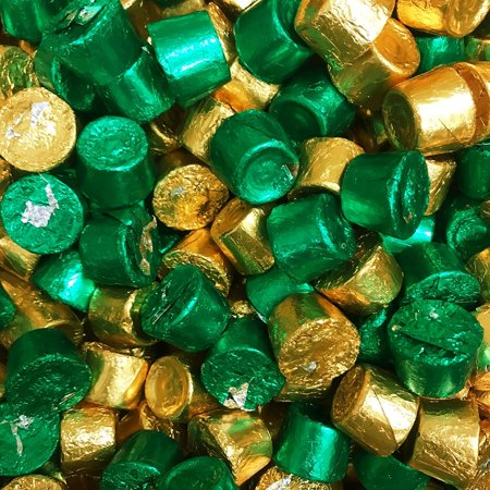 ROLO Holiday Chewy Caramels Milk Chocolate Candy, In Green & Gold Foils 2.5 LB Bag (Cup Of Gold Candy)
