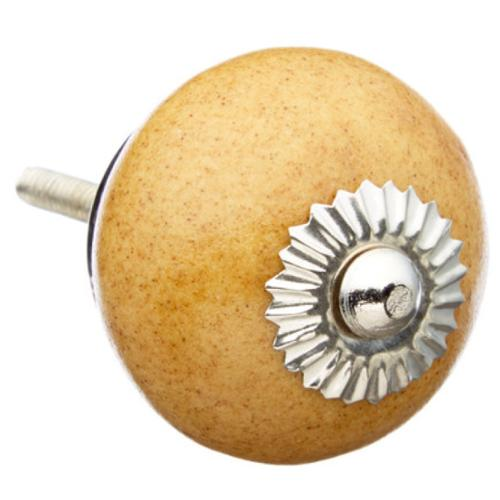 Shabby Restore Mustard Colored with Speckles Ceramic Drawer/ Door/ Cabinet Knob (Pack of 6)