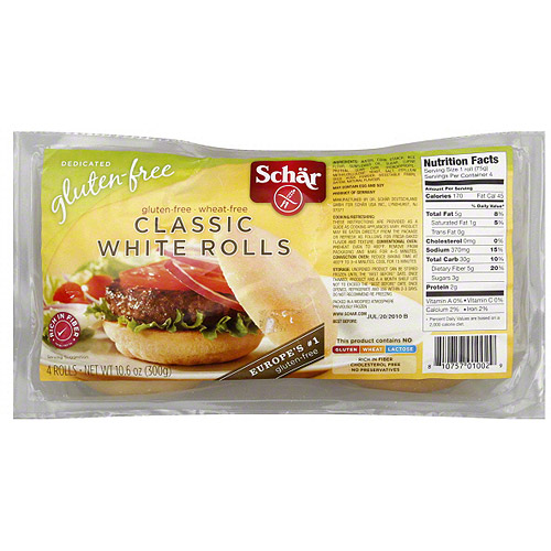 Schar Classic White Rolls, 10.6 oz (Pack of 6)