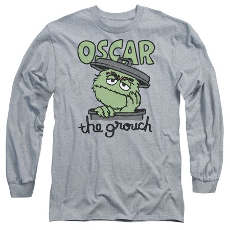 Sesame Street Classic TV Show Canned Grouch Oscar Adult Long Sleeve T-Shirt