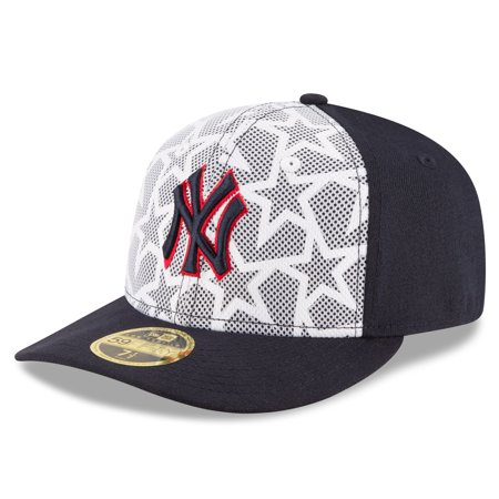 bc2cd892 New York Yankees New Era Stars & Stripes Low Profile 59FIFTY Fitted Hat -  White/Navy - Walmart.com