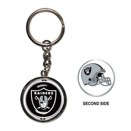 Oakland Raiders Spinner Key Ring - No Size