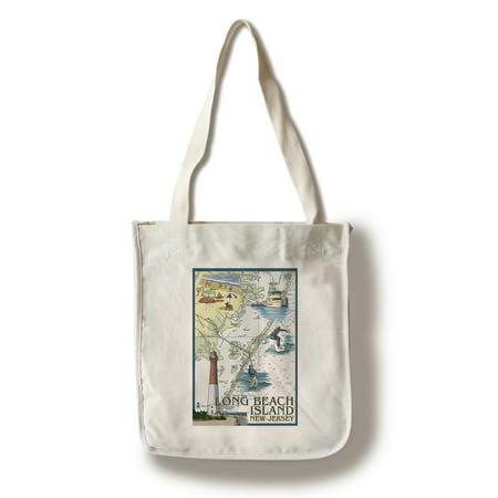 Long Beach Island, New Jersey - Nautical Chart - Lantern Press Artwork (100% Cotton Tote Bag - Reusable)