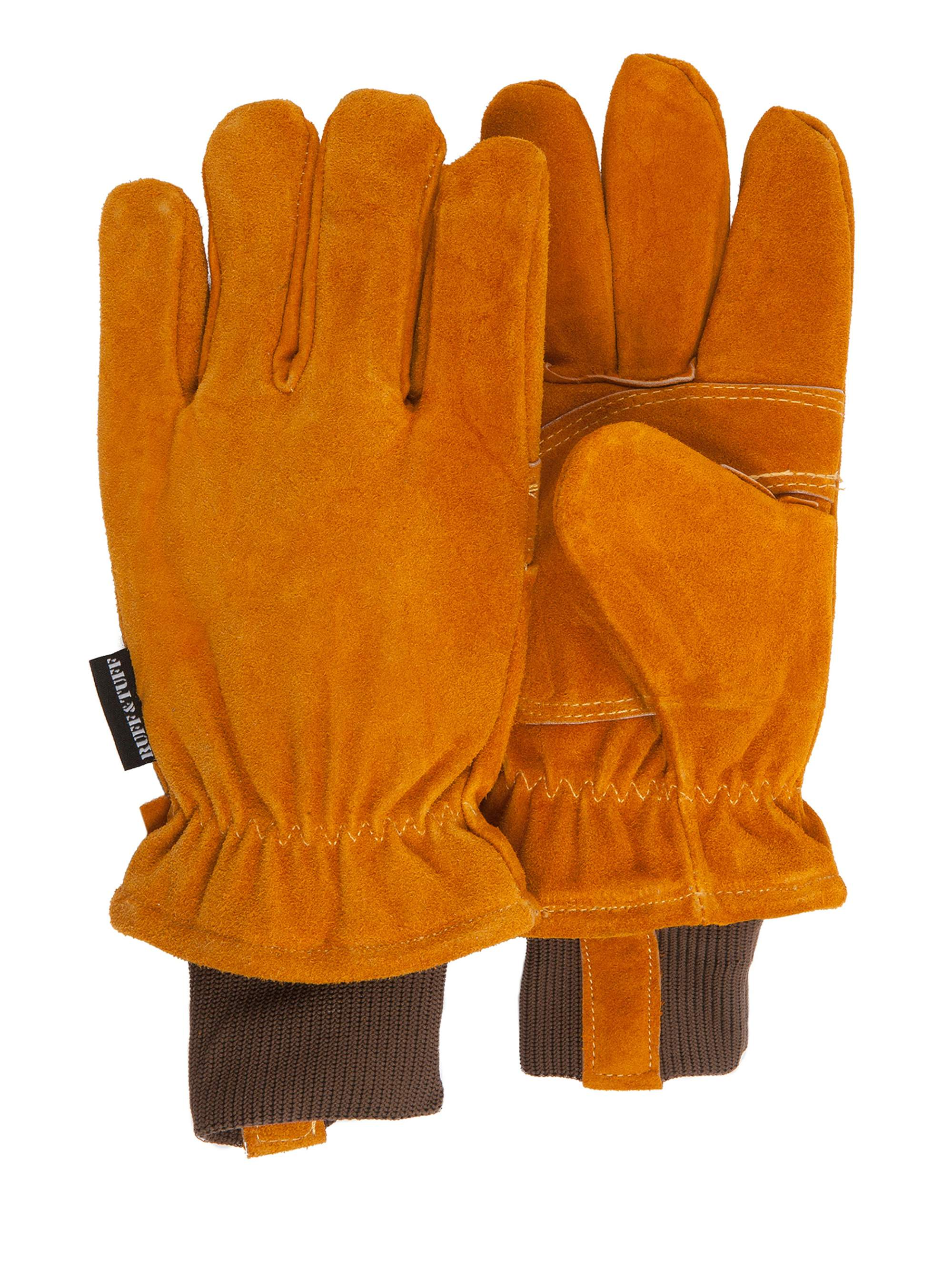 QuietWear Split-Leather Thinsulate Gloves, Rust by