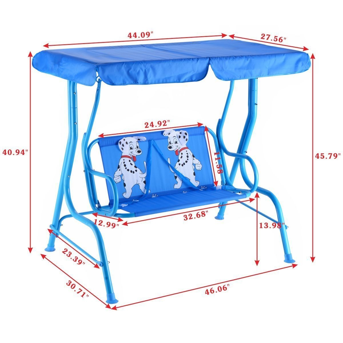 Kids Patio Swing Chair Children Porch Bench Canopy 2 Person Yard Furniture Blue - Walmart.com  sc 1 st  Walmart & Kids Patio Swing Chair Children Porch Bench Canopy 2 Person Yard ...