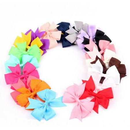 Hair Bow Organizer (20 Pieces Hair Bow Boutique Girl Baby Grosgrain Ribbon Alligator Clips Lot )