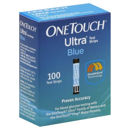 OneTouch Ultra Blue Blood Glucose Test Strips, 100