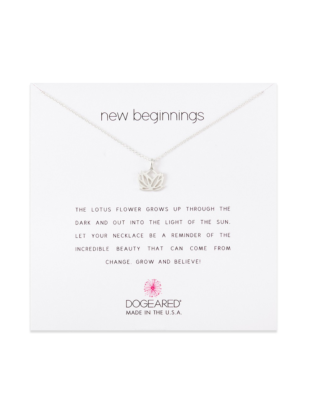 Dogeared New Beginnings Lotus Sterling Silver Necklace Walmart