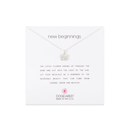 Dogeared Best Mom Necklace - Dogeared New Beginnings Lotus Sterling Silver Necklace