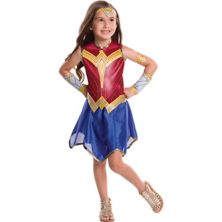 Justice League Girls Wonder Woman Dc Superhero Halloween Cosplay Costume - Child's Wonder Woman Costume