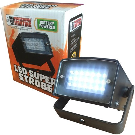 LED Super Strobe Light - Battery Powered - 21 High Power LEDs - DJs, Clubs, Parties - Halloween Decoration
