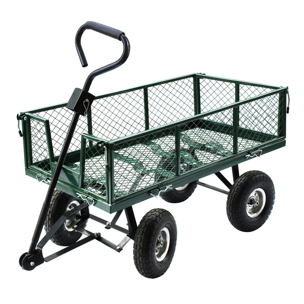 Gizmo Supply Heavy Duty Utility Wheelbarrow Lawn Wagon Cart Dump Trailer Yard Garden Steel by