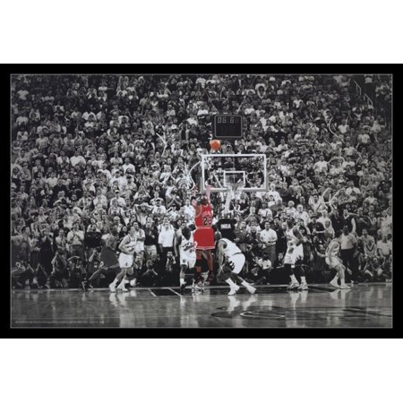 - Michael Jordan Last Shot Title Winning Last Shot In Chicago Poster Poster Print