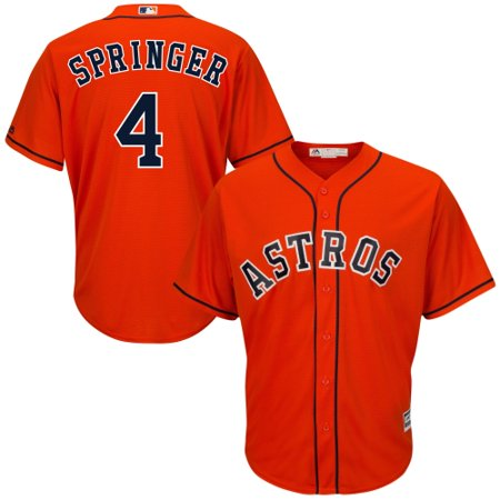 George Springer Houston Astros Majestic Cool Base Player Jersey - Orange
