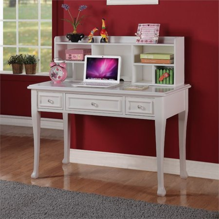 house furnishings jenna writing desk with hutch in white