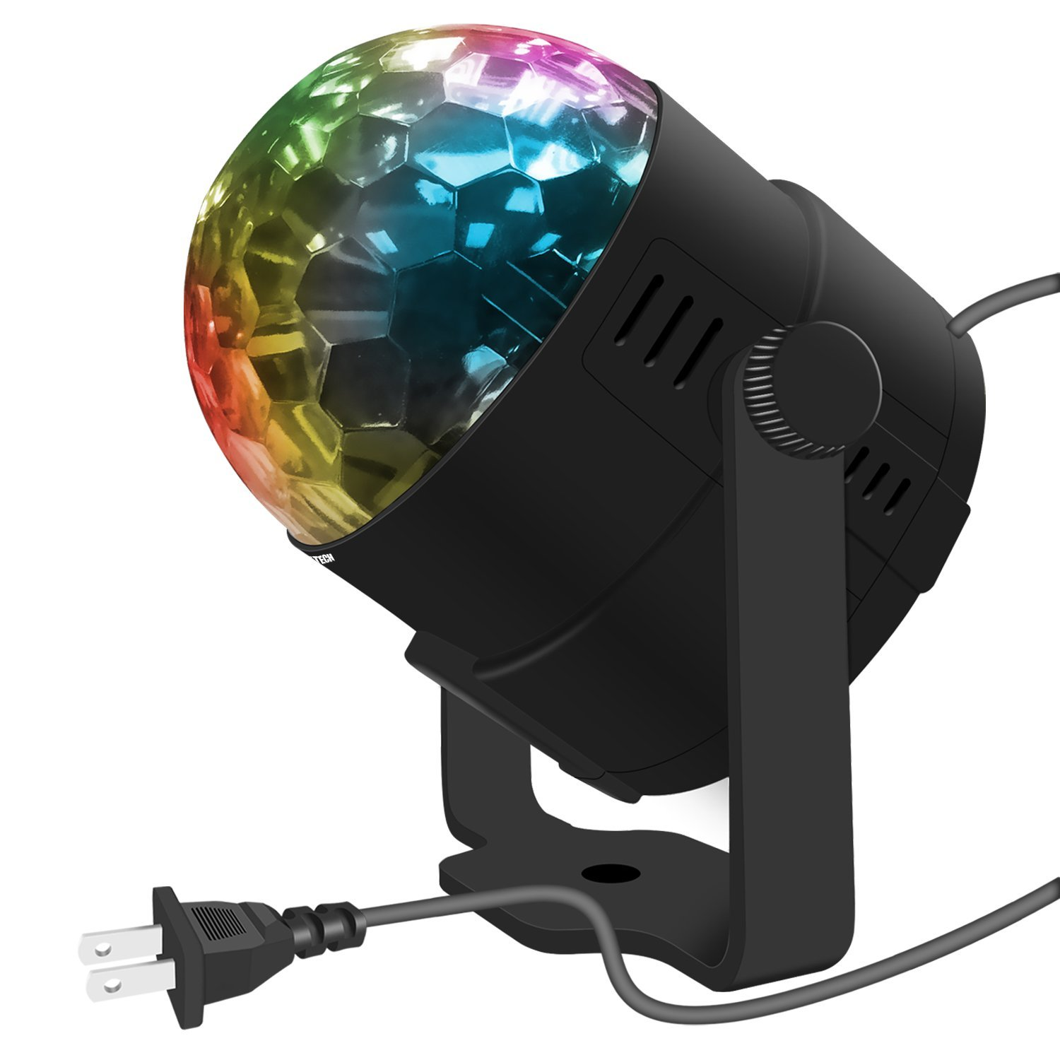 Costech LED Stage Party Lighting 7 Color Changing Sound Active 3W RGB Auto Rotating Mini Crystal LED Dream Magic Ball... by