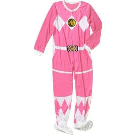 ad344a8aa34 Komar Kids - Mighty Morphin Power Rangers Pink Ranger Footie Pajama -  Walmart.com