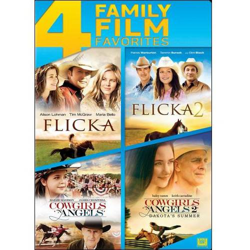 4 Family Film Favorites: Flicka / Cowgirls 'N Angels / Flicka 2 / Cowgirls 'N Angels 2: Dakota's Summer
