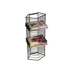 Atlantic Onyx DVD Storage Rack Tower (28 DVDs, 28 BluRays), Black