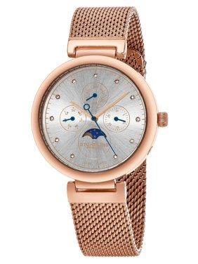 Product Image Stuhrling Original Women s Swiss Quartz Multifunction  Symphony Rose tone Mesh Bracelet Watch 9dbd997c037