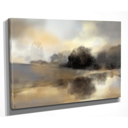 Wexford Home 'Misty Pond' by Nan Painting Print on Wrapped Canvas ()