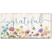 Courtside Market Grateful Gallery-Wrapped Canvas Wall Art, 12x24