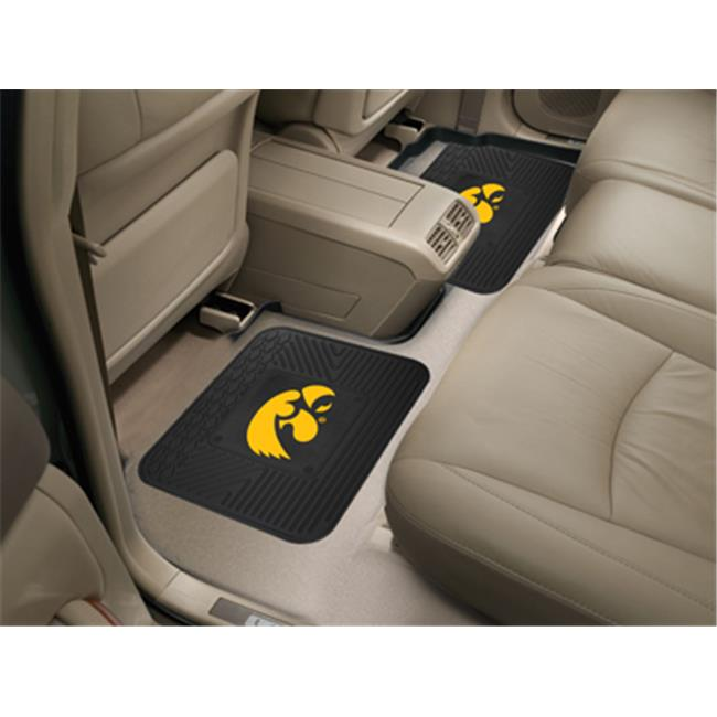 COL - 14 in. x17 in.  - University of Iowa  Backseat Utility Mats 2 Pack