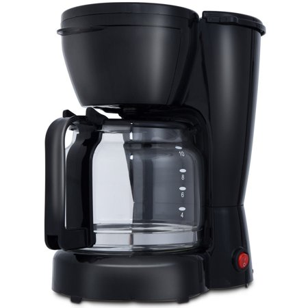 GHP 900W Black & Silver Coffee Maker Brewer Machine with 1500CC Nonstick Glass