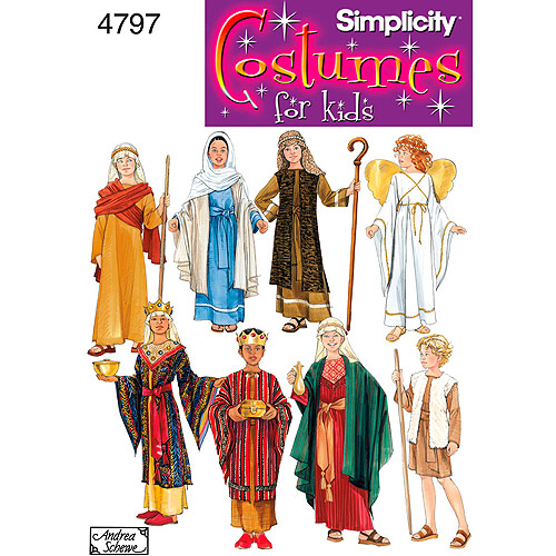 Simplicity Pattern Child's Nativity Costumes, (S, M, L)