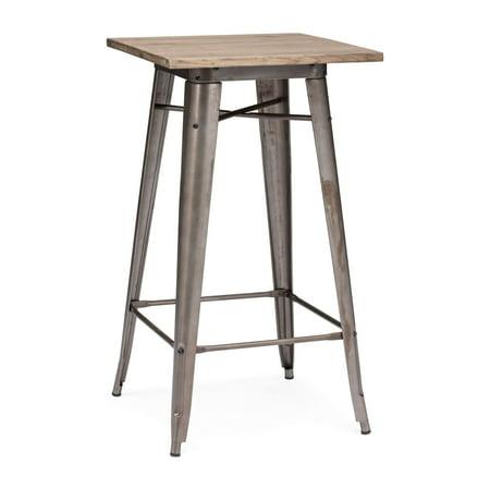 Titus Bar Table Rusty & Elm Wood - Table Top Bar