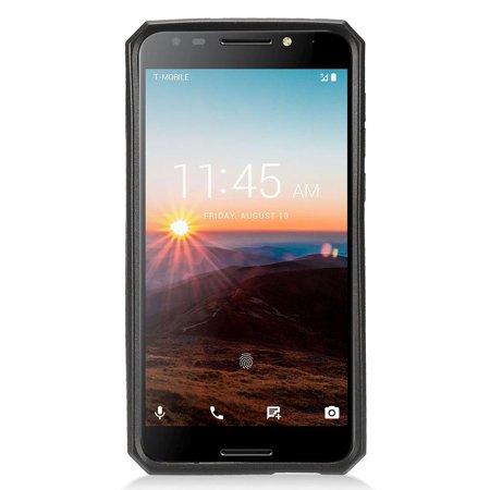 Alcatel A30 Fierce 2017 Cellphone Case, by Insten Hard Plastic/Soft TPU Rubber Case Cover for Alcatel A30 Fierce(2017) / A30 Plus / Revvl (T-Mobile) / Revvl 5049W / Walters - Gold/Black - image 1 de 4