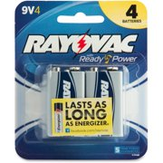 Rayovac High Energy Alkaline 9V Batteries, 4 Count (packaging may vary)