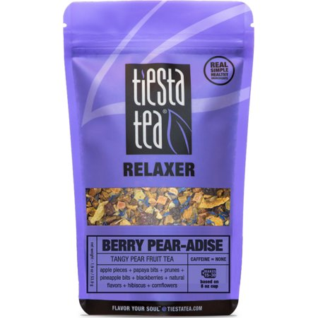 Tiesta Tea Relaxer, Berry Pear-adise, Loose Leaf Herbal Tea Blend, Caffeine Free, 2.4 Ounce Pouch