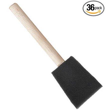 Jen Poly Foam Brush 3  Box Of 36  Usa  Brand Jen Manufacturing Inc