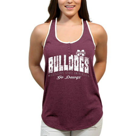 Mississippi State Bulldogs Choppy Arch Women'S/Juniors Team Tank Top ()