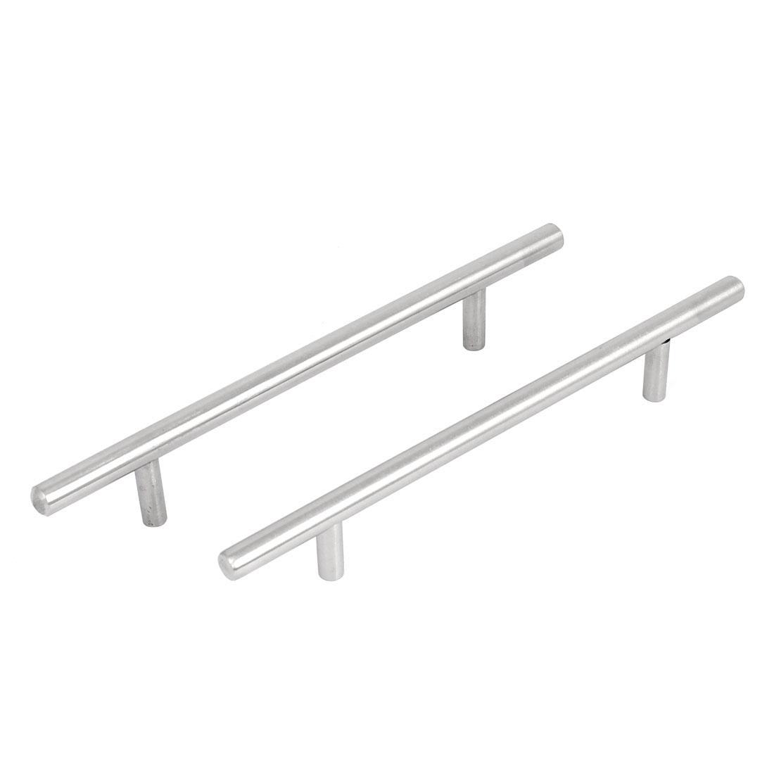 2Pcs Iron Cabinet Drawer Cupboard Door Pull Handles Grip 195mm Length