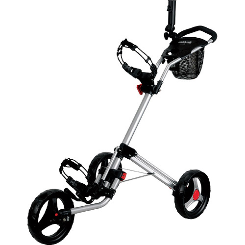 Caddytek Caddylite 13 5 Deluxe Quad Fold Golf Push Cart Silver