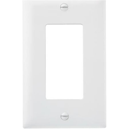 Pass & Seymour TP26WCC100 1 Gang 1 Decorator Opening Nylon Wall Plate, White Gang Claro Decorator Wall Plate