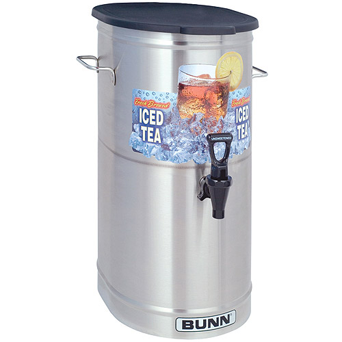 BUNN TDO-4, Commercial Iced Tea Dispenser w/Brew-Thru Lid, Oval, 34100.0002