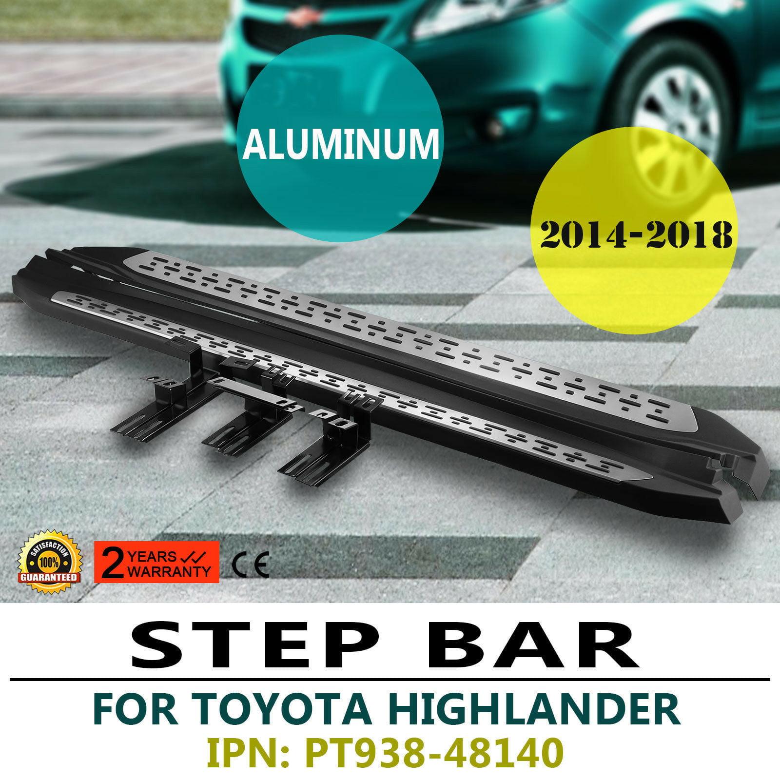 For 2014-2019 Toyota Highlander Aluminum Running Boards Side Step Rails Nerf Bar