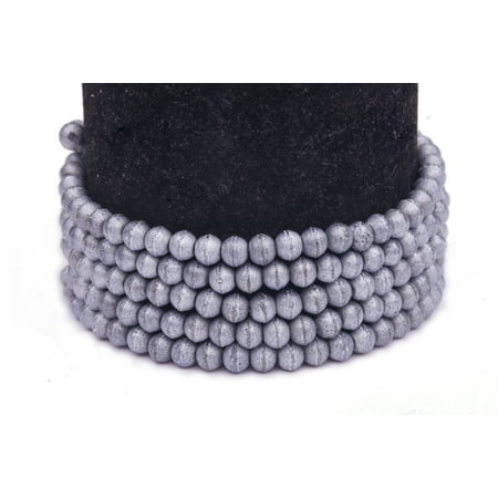 Ab Silver Foiled Rhinestones (Silver Silver Foiled Glass Pearls 4mm Round Sold per pkg of 2x32Inch )