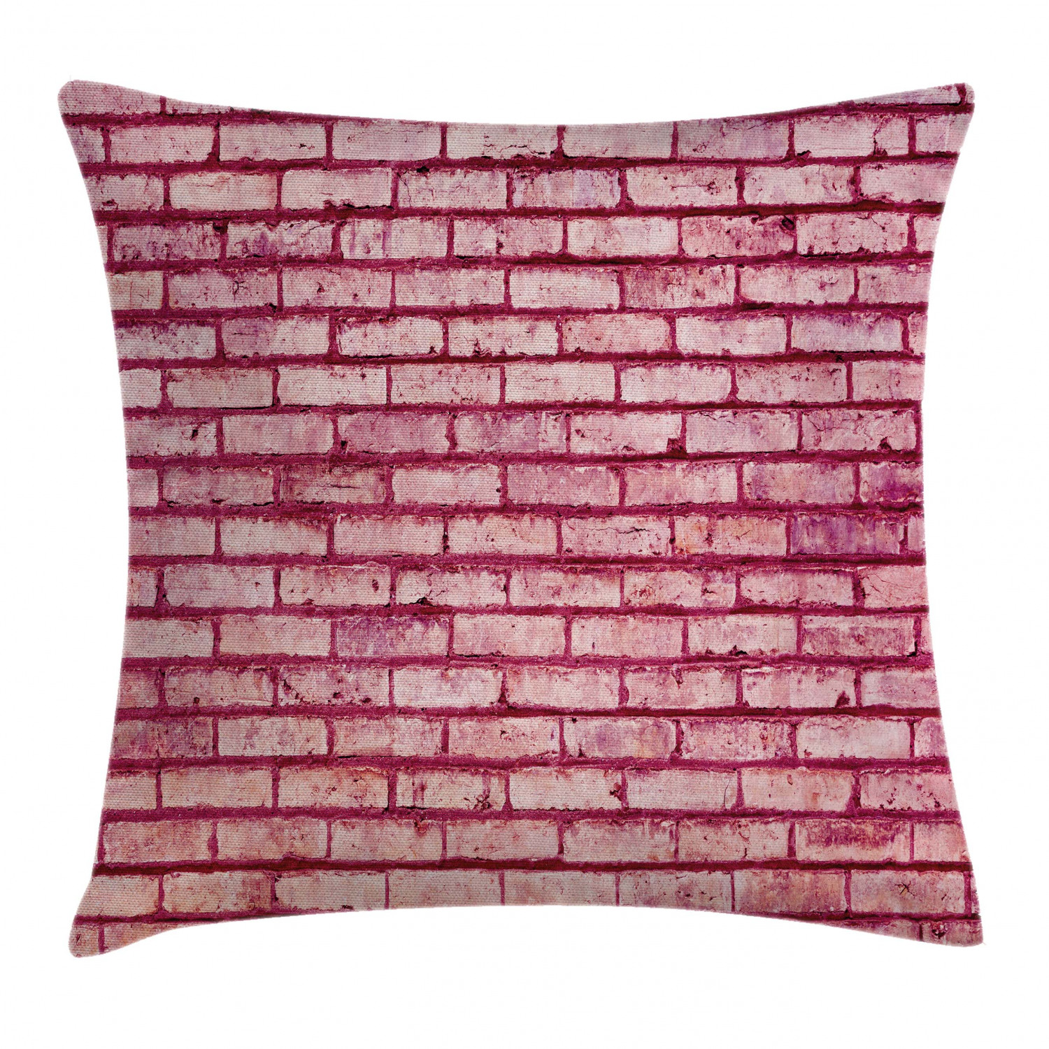 Coral Throw Pillow Cushion Cover Old Brick Wall Texture Image Rubble Rough Grunge Facade Construction Material Tile Decorative Square Accent Pillow Case 24 X 24 Inches Pink Magenta By Ambesonne Walmart Com