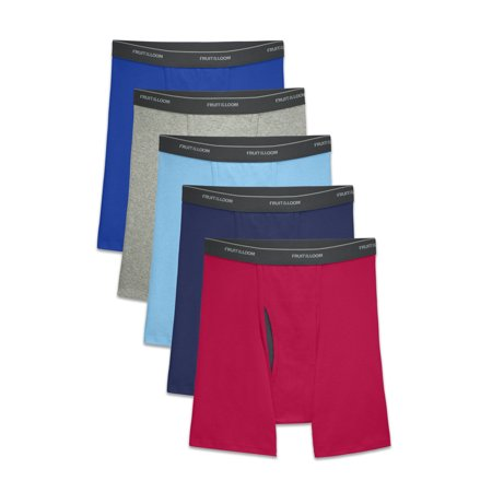 Fruit of the Loom Men's CoolZone Fly Dual Defense Assorted Boxer Briefs, 5 Pack (Boxer Briefs Ex Officio)