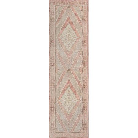 Momeni Isabella Polyester Machine Made Pink Runner 2'7